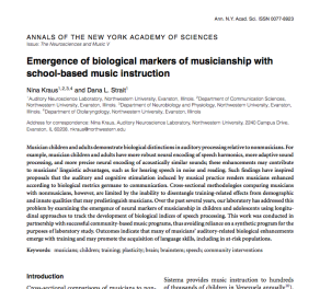Musicians biological differences research paper