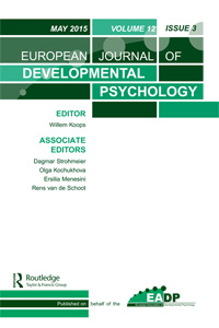 European Journal of Developmental Psychology cover