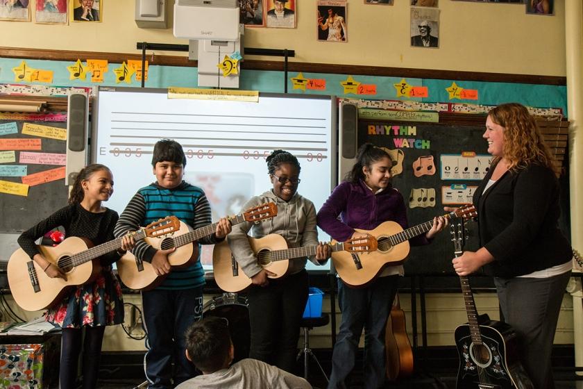 Education Through Music guitar class
