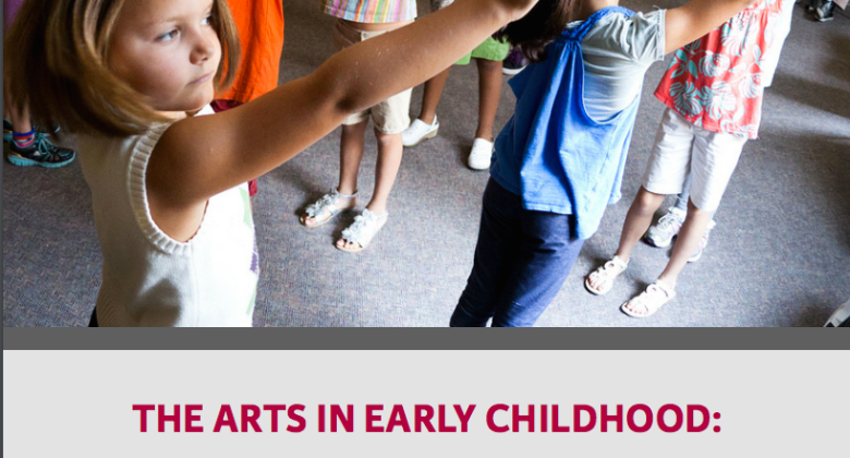 The arts in early childhood - report cover
